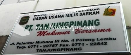 Plank nama BUMD Kota Tanjungpinang