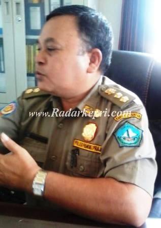 Hasrul Dafri Kabid penegakan Perda Satpol PP Pemkab Bintan