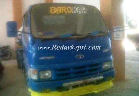 Inilah mobil pengangkut air ilegal yang ditangkap Bappedal Kota Batam namun dilepas kembali.