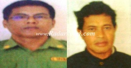 Inilah dua tersangka tindak pidana korupsi pembangunan Masjid,Yusrizal Efendi dan Zainal Arifin