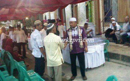 Walikota Tanjungpinang, H Lis Darmansyah SH ketika safari Ramadhan di Masjid Nurul Iman.