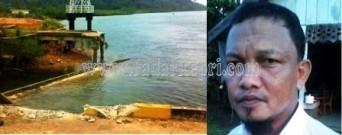 Dermaga Sei Tanam yang ambruk karena ditabrak tugboat dan tongkang milik PT Harap Panjang tahun 2012 lalu tak kunjung diperbaiki. Kadishubinfokom Lingga, Hendry Efrizal.