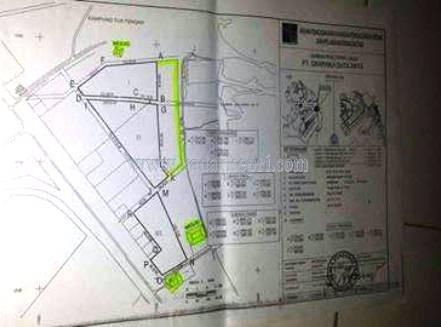 Inilah peta lokasi yang akan dibangun PT Grafika Duta Arya