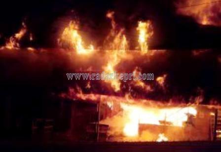 Kebakaran di Ranai.
