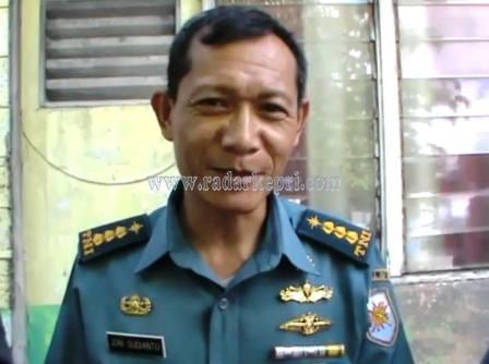Asisten Intelejen Lantamal IV Tanjungpinang, kolonel Laut Joni Sudianto.