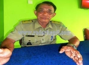 Kepala Desa Sabang Mawang, H Zakaria.