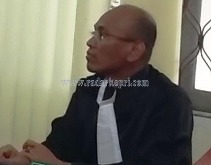 Nofiandry SH, Jaksa Penuntut Umum (JPU) dari Kejati Kepri.
