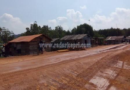 Inilah rumah-rumah warga Kampung Berlian Tua, Batam yang terancam digusur tanpa ganti rugi.