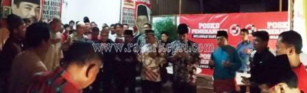 Calon Gubernur Kepri, DR HM Soeryo Respatino SH MH di Posko Raja Haji Fisabilliah.