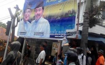 Inilah baleho pasangan SaNur yang dirusak OTK di Jl Sumatera, Selasa (01/09).