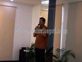 Asman Abnur saat melakukan sosialiasi 4 Pilar Kebangsaan di SMPN 12 Legenda Malaka, Batam.