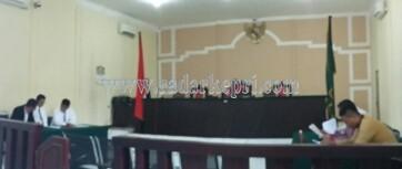 Sidang Pra Peradilan Polres Bintan dengan agenda mendengarkan tanggapan dari kuasa hukum Polres Bintan, Selasa (01/03).