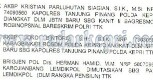 TR mutasi dan promosi yang diterbitkan Kapolri pada Jumat (22/07).