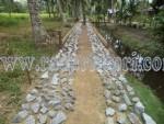 Beginilah proyek semenisasi di pulau Kundur karena adanya kerjasama kontraktor dengan Kejari Karimun.